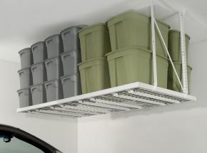 "00164 HyLoft® Super Pro 96"" x 48"" Ceiling Storage Unit, White"