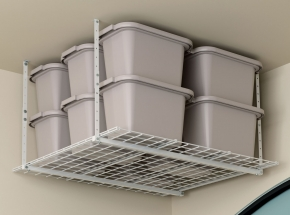 "00540 HyLoft® 45"" x 45"" Ceiling Storage Unit, White"