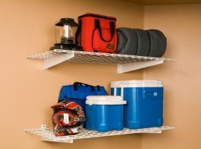 "00630 HyLoft® 48"" x 24"" 2-Shelf Wall Storage Unit, White"
