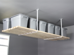 "80842 HyLoft® 34"" x 26"" Ceiling Storage Rack, White (Lumber Not Included)"