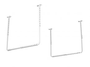 "80842 HyLoft® 34"" x 26"" Ceiling Storage Rack, White"