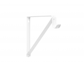 Closet-Pro 0045 Heavy-Duty Shelf & Rod Bracket, White