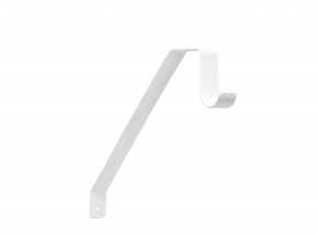 Closet-Pro 0041-B Adjustable Shelf & Rod Bracket, White