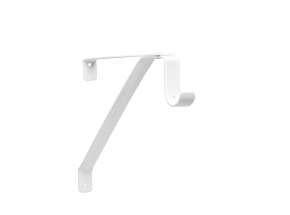 Closet-Pro 0043-B Adjustable Shelf & Rod Bracket, White