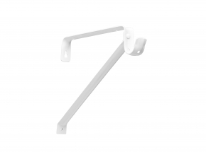 Closet-Pro 0042 Adjustable Shelf Rod & Bracket, White
