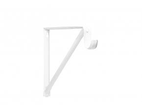 Closet-Pro RP-0044 Shelf & Rod Bracket, White