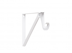 Closet-Pro RP-0052 Shelf & Rod Bracket with Slide-Thru, White