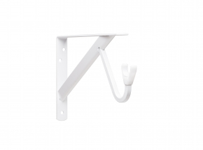 Closet-Pro HD 0495 Heavy-Duty Shelf & Rod Bracket, White