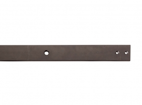 FR-BK Steel Flat Rail, Oil Rubbed Bronze Finish