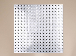 "HEAVYWEIGHT 0204 16"" x 16"" Diamond Plate Steel Pegboard"