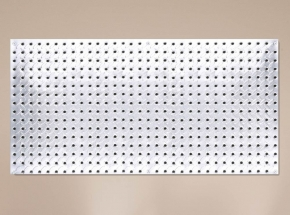 "HEAVYWEIGHT 0204 16"" x 32"" Diamond Plate Steel Pegboard"