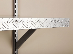 HEAVYWEIGHT 0220 Diamond Plate Embossed Shelf Edge