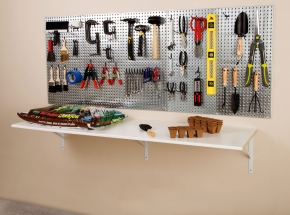 HEAVYWEIGHT Diamond Plate Steel Pegboard