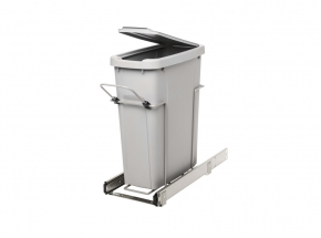 PLSW9-1-20-R-P Bottom-Mount Single Bin Waste & Recycling Unit, 20-qt.