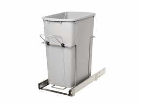 PSW10-1-35-R-P Bottom-Mount Single Bin Waste & Recycling Unit, 35-qt.