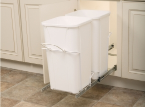 PDMTM145-1-50WH Single-Bin Waste & Recycling unit, 50-qt (Shown not mounted)