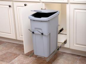 SCB10-1-35PT Bottom-Mount Single-Bin Unit, 35-qt Platinum Bin/Frosted Nickel Wire with integrated handle