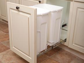 Item: SCB15-2-35WH Bottom-Mount 2-Bin Unit, 35-qt White Bins/White Wire, optional door mount
